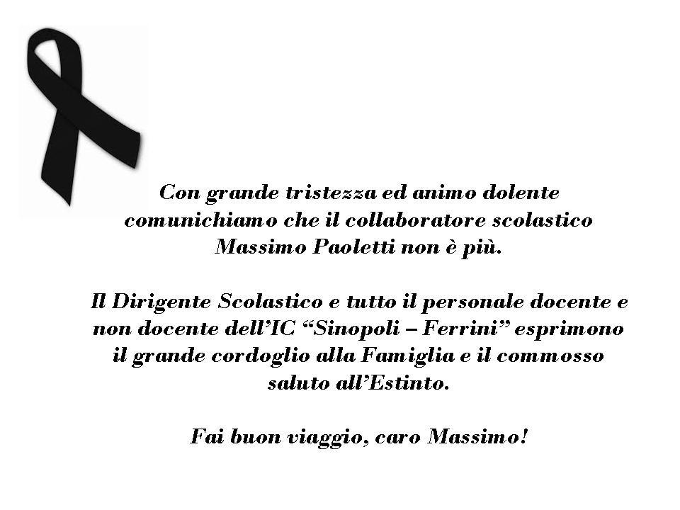 Ciao Massimo...